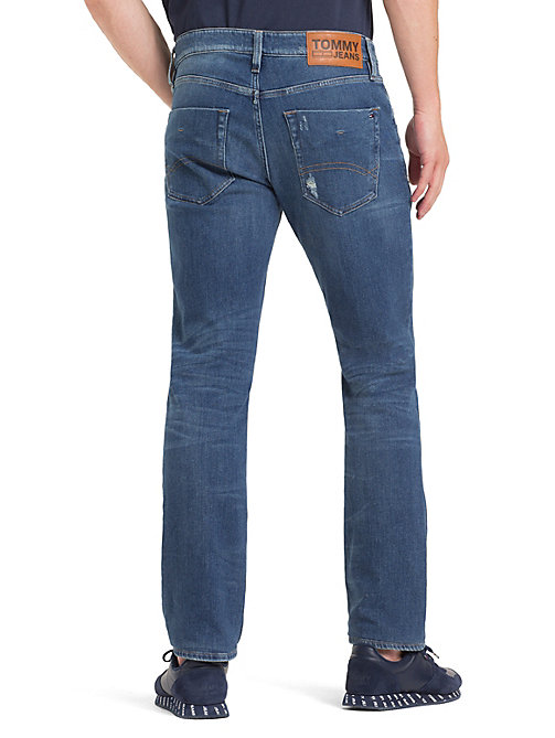 TOMMY JEANS Scanton Ripped Slim Fit Jeans - PERRY MID BLUE COM - TOMMY JEANS Jeans - detail image 1