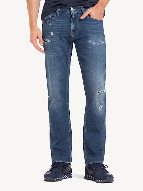 TOMMY JEANS Scanton Ripped Slim Fit Jeans - PERRY MID BLUE COM - TOMMY JEANS Jeans - main image