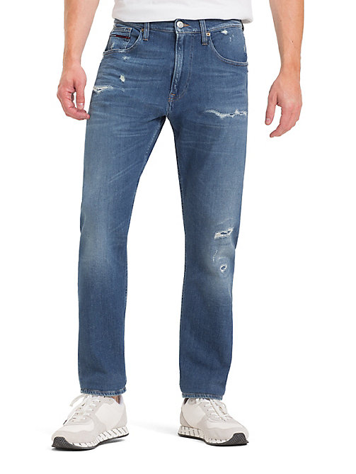 TOMMY JEANS TJ 1988 Tapered Fit Jeans - PERRY MID BLUE COM - TOMMY JEANS Tapered Jeans - main image