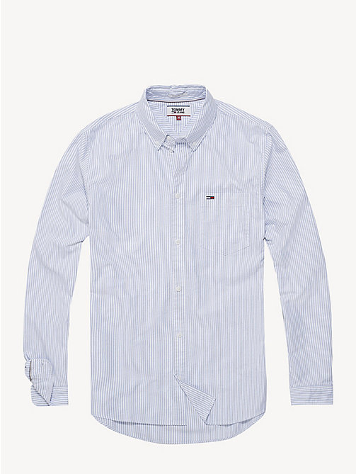 TOMMY JEANS Tommy Classics Oxford-overhemd met Ithaca-streep - LIGHT BLUE - TOMMY JEANS Sustainable Evolution - detail image 1