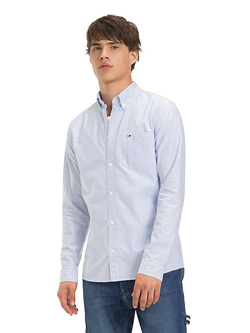 TOMMY JEANS Tommy Classics Ithaca Stripe Shirt - LIGHT BLUE - TOMMY JEANS Sustainable Evolution - main image