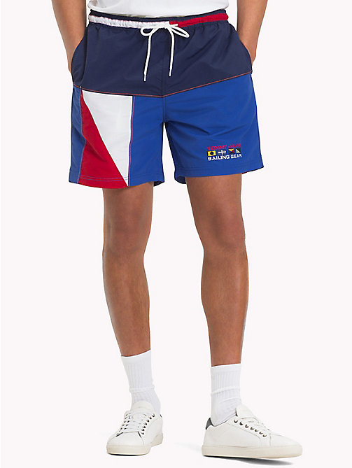 TOMMY JEANS 90s Colour-Blocked Sailing Shorts - PEACOAT / MULTI - TOMMY JEANS Trousers & Shorts - main image