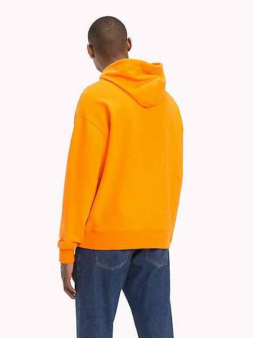 TOMMY JEANS Signature Cotton Hoodie - ORANGE PEEL - TOMMY JEANS Signature Collection - detail image 1