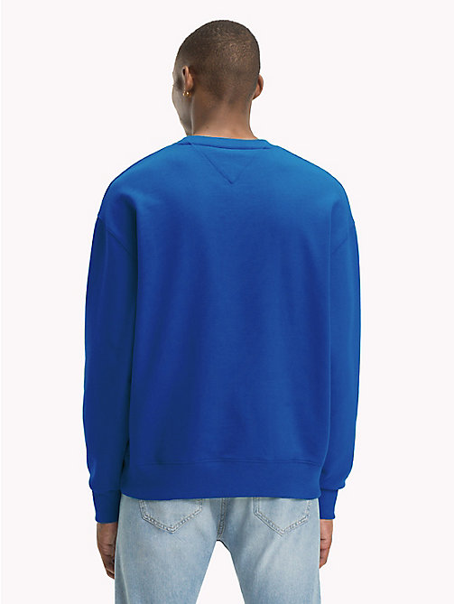 TOMMY JEANS Signature Crew Neck Sweatshirt - SURF THE WEB - TOMMY JEANS Sweatshirts & Hoodies - detail image 1