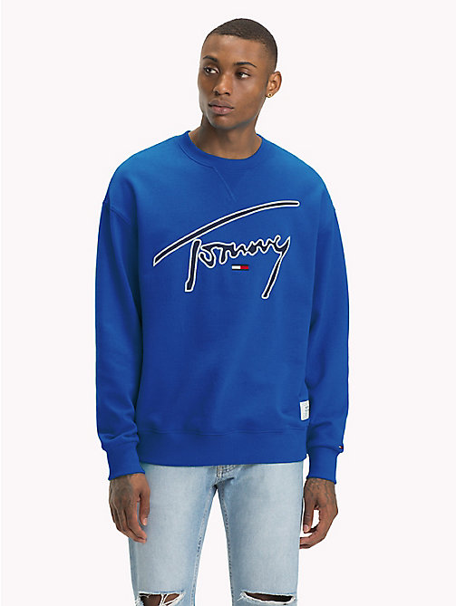 TOMMY JEANS Signature Crew Neck Sweatshirt - SURF THE WEB - TOMMY JEANS Sweatshirts & Hoodies - main image