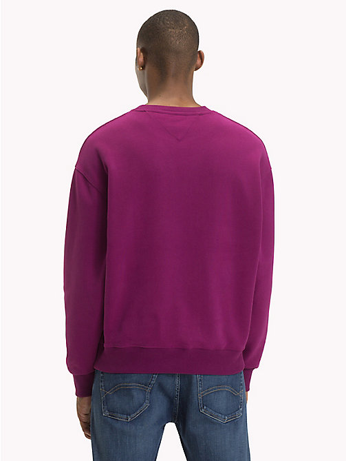 TOMMY JEANS Signature Crew Neck Sweatshirt - DARK PURPLE - TOMMY JEANS Sweatshirts & Hoodies - detail image 1