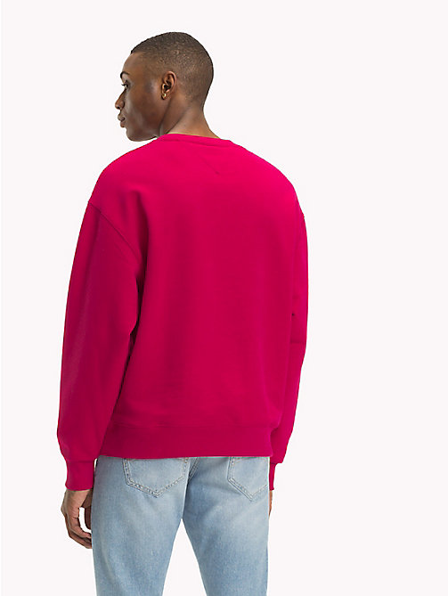 TOMMY JEANS Signature Crew Neck Sweatshirt - CERISE - TOMMY JEANS Signature Collection - detail image 1