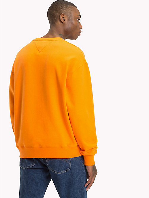 TOMMY JEANS Signature Crew Neck Sweatshirt - ORANGE PEEL - TOMMY JEANS Sweatshirts & Hoodies - detail image 1