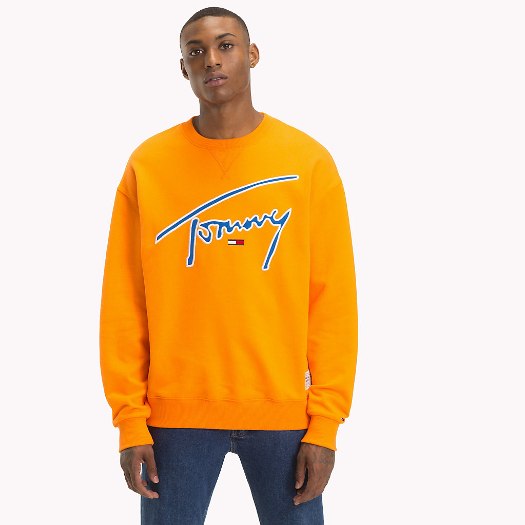 dc6f3de0 Signature Crew Neck Sweatshirt | Tommy Hilfiger | Official Website