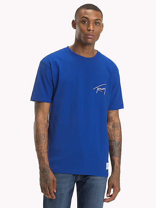 TOMMY JEANS Signature Crew Neck T-Shirt - SURF THE WEB - TOMMY JEANS Signature Collection - main image