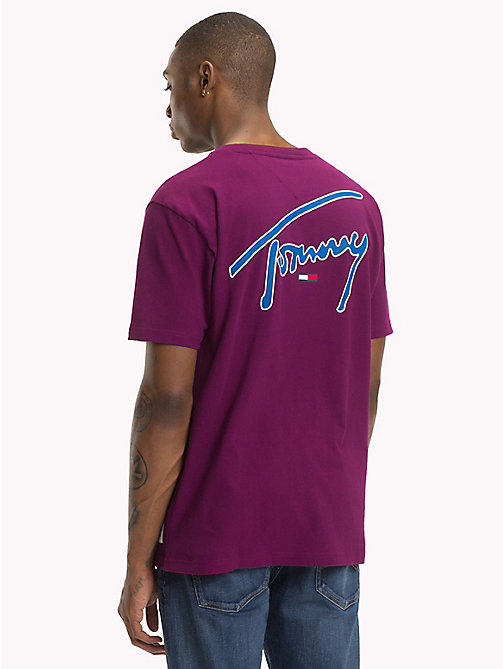 TOMMY JEANS Signature Crew Neck T-Shirt - DARK PURPLE - TOMMY JEANS Signature Collection - detail image 1