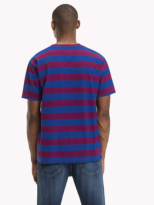TOMMY JEANS Signature Stripe T-Shirt - DARK PURPLE / SURF THE WEB - TOMMY JEANS Signature Collection - detail image 1