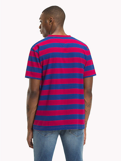 TOMMY JEANS Signature Stripe T-Shirt - CERISE / SURF THE WEB - TOMMY JEANS Signature Collection - detail image 1