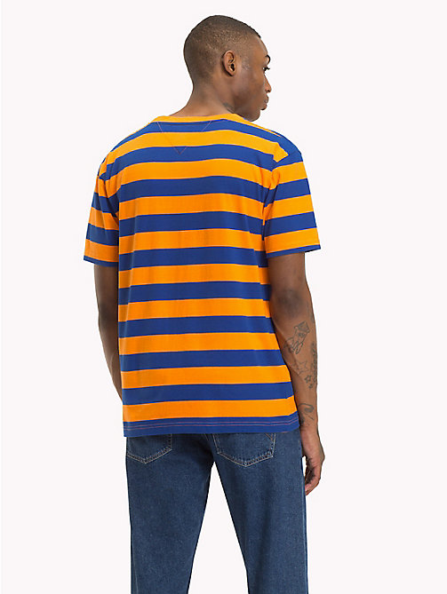 TOMMY JEANS Signature Stripe T-Shirt - ORANGE PEEL / SURF THE WEB - TOMMY JEANS Signature Collection - detail image 1