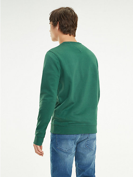 TOMMY JEANS Crew Neck Logo Sweatshirt - HUNTER GREEN - TOMMY JEANS Sweatshirts & Knitwear - detail image 1