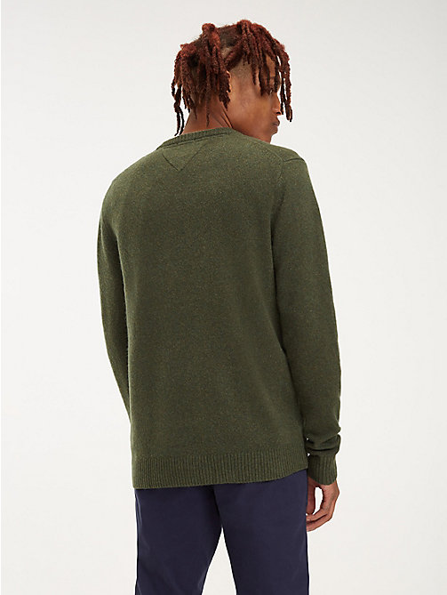 TOMMY JEANS Pure Wool Jumper - FOREST NIGHT - TOMMY JEANS Knitwear - detail image 1