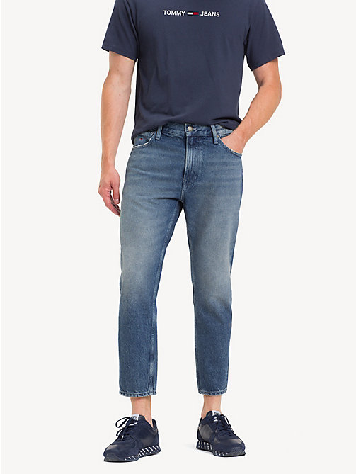 TOMMY JEANS Cropped Relaxed Fit Jeans - NORTH  MID BL RIGID - TOMMY JEANS Tapered Jeans - main image