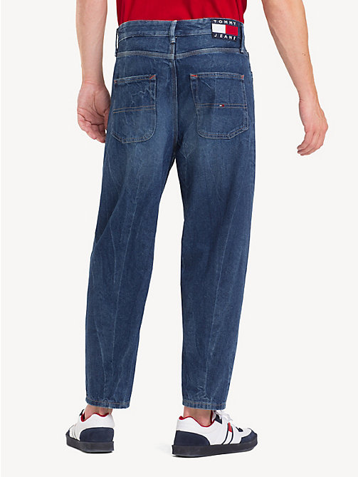 TOMMY JEANS Relaxed Fit Cropped Jeans - STONE MID BLUE RIGID - TOMMY JEANS Tapered Jeans - detail image 1