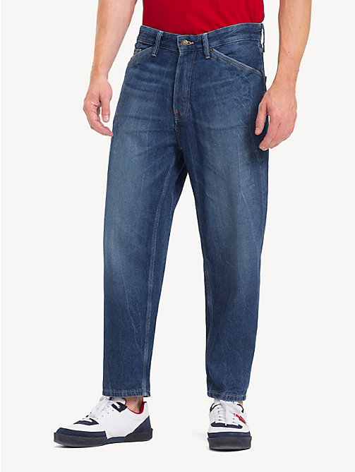 TOMMY JEANS Relaxed Fit Cropped Jeans - STONE MID BLUE RIGID - TOMMY JEANS Tapered Jeans - main image