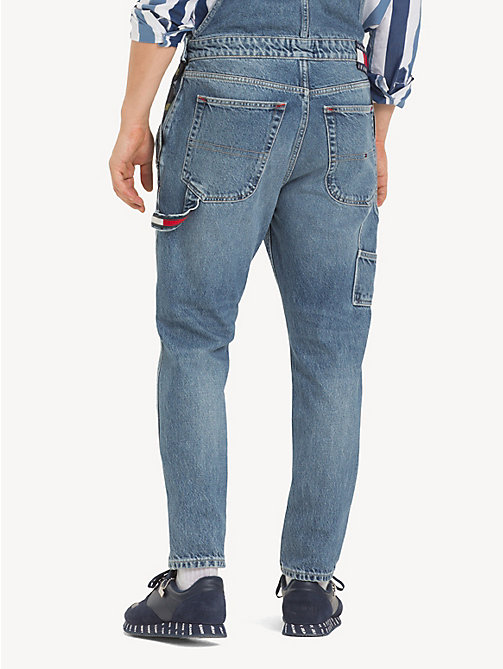 TOMMY JEANS Regular fit tuinbroek met canvas label - PARK LIGHT BL RIG - TOMMY JEANS Jeans - detail image 1