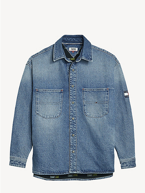 TOMMY JEANS Denim Overshirt - PARK LIGHT BL RIG - TOMMY JEANS Shirts - detail image 1