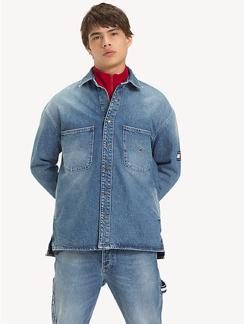 TOMMY JEANS Denim Overshirt - PARK LIGHT BL RIG - TOMMY JEANS Shirts - main image