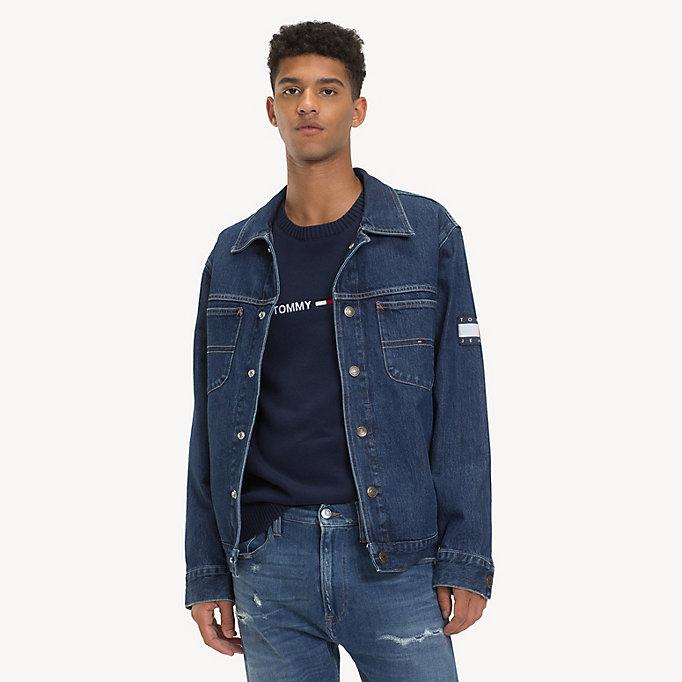 new photos 40fdd 149b6 Oversized Denim Jacket | SOLE MID RIGID | Tommy Hilfiger