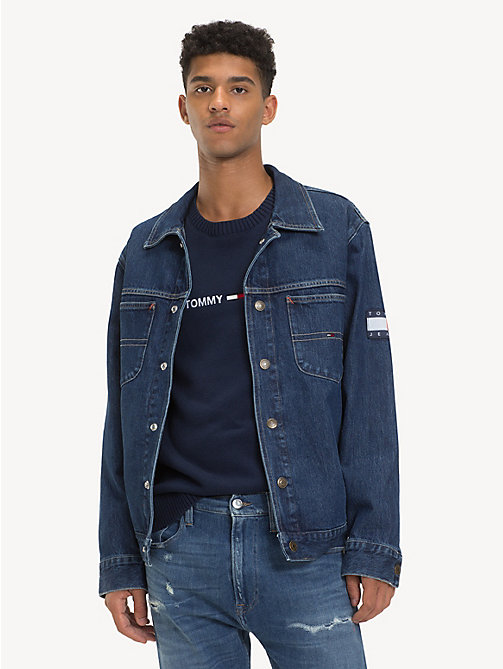 TOMMY JEANS Oversized Acid Wash Denim Jacket - SOLE MID RIGID - TOMMY JEANS Coats & Jackets - main image