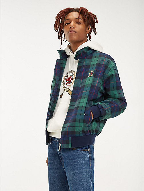 TOMMY JEANS Plaid Crest Harrington Jacket - CHECK DARK SAPPHIRE / MULTI - TOMMY JEANS TOMMY JEANS Capsule - main image