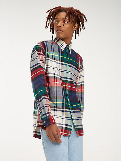 TOMMY JEANS Plaid Crest Pure Cotton Shirt - CHECK DARK SAPPHIRE / MULTI - TOMMY JEANS TOMMY JEANS Capsule - main image