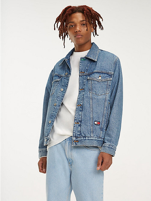 TOMMY JEANS Джинсовая куртка с логотипом - MID DENIM BLUE - TOMMY JEANS TOMMY JEANS Capsule - главное изображение