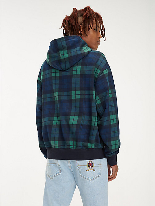 TOMMY JEANS Plaid Crest Logo Hoody - CHECK DARK SAPPHIRE / MULTI - TOMMY JEANS TOMMY JEANS Capsule - detail image 1