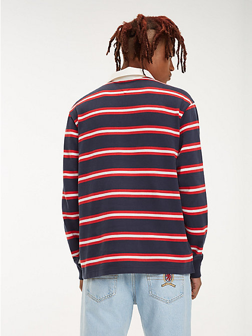 TOMMY JEANS Crest Stripe Rugby Shirt - DARK SAPPHIRE / MULTI - TOMMY JEANS Rugby shirts - detail image 1