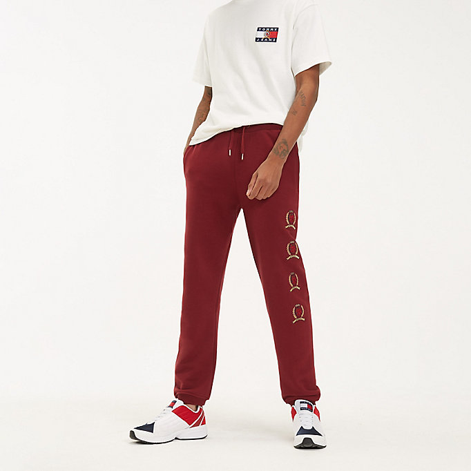 high quality new styles exclusive deals Crest Logo Cotton Joggers | BROWN | Tommy Hilfiger