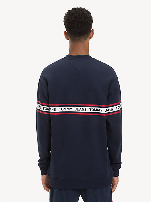 TOMMY JEANS Regular fit sweatshirt met logotape - BLACK IRIS - TOMMY JEANS Sweatshirts & Hoodies - detail image 1