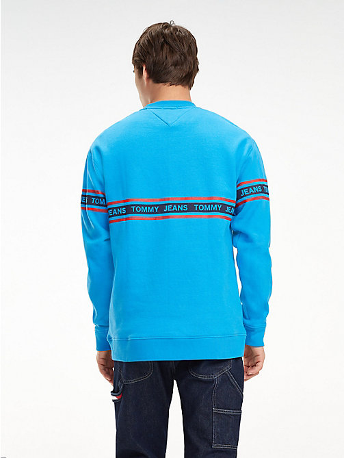 TOMMY JEANS Repeat Logo Sweatshirt - BRILLIANT BLUE - TOMMY JEANS Sweatshirts & Hoodies - detail image 1