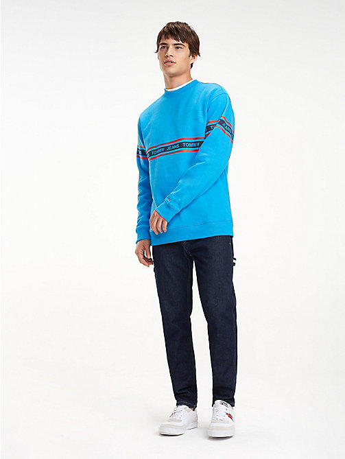 TOMMY JEANS Repeat Logo Sweatshirt - BRILLIANT BLUE - TOMMY JEANS Sweatshirts & Hoodies - main image