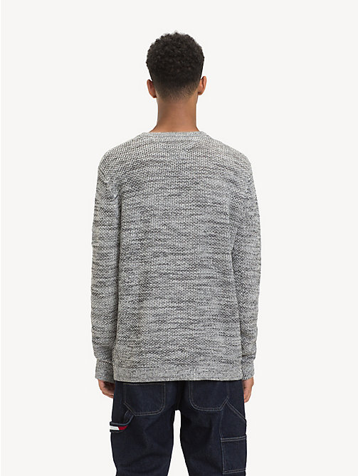 TOMMY JEANS Pullover aus farblich abgestimmtem Strukturstrick - LT GREY HTR - TOMMY JEANS Pullover - main image 1