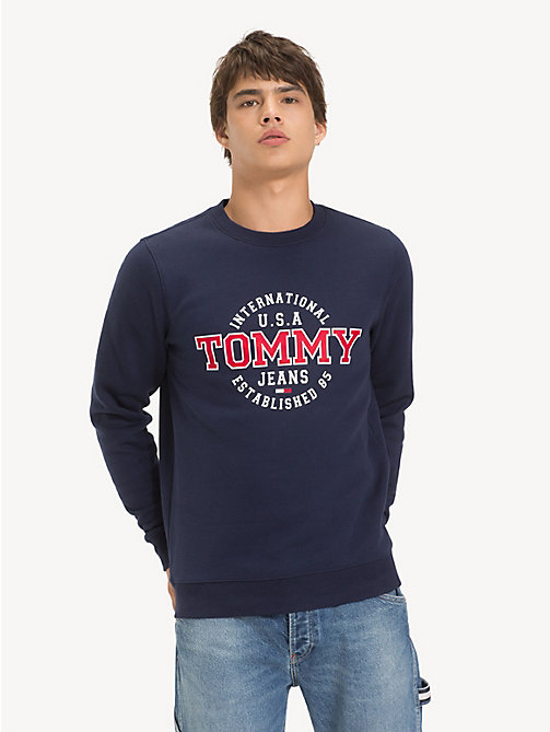TOMMY JEANS Tommy Jeans Circle Logo Sweatshirt - BLACK IRIS - TOMMY JEANS Sweatshirts & Hoodies - main image