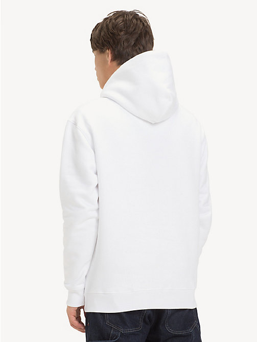TOMMY JEANS Tommy Classics Logo Hoody - CLASSIC WHITE - TOMMY JEANS Sweatshirts & Hoodies - detail image 1