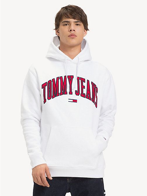TOMMY JEANS Tommy Classics Logo Hoody - CLASSIC WHITE - TOMMY JEANS Sweatshirts & Hoodies - main image