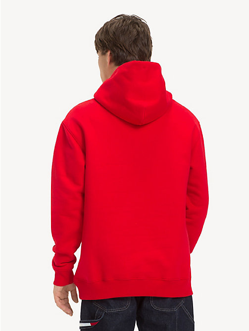 TOMMY JEANS Tommy Classics Logo Hoody - FLAME SCARLET - TOMMY JEANS Sweatshirts & Hoodies - detail image 1