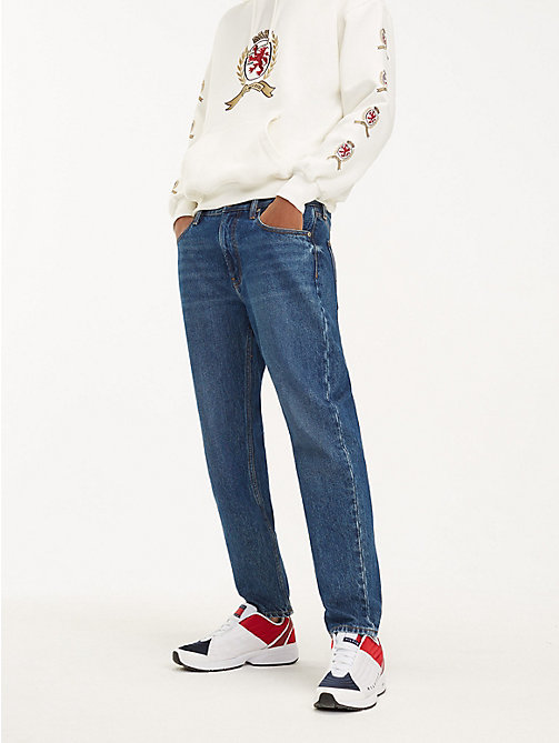 TOMMY JEANS Crest Logo Dad Jeans - DARK BLUE DENIM -  TOMMY JEANS Capsule - main image