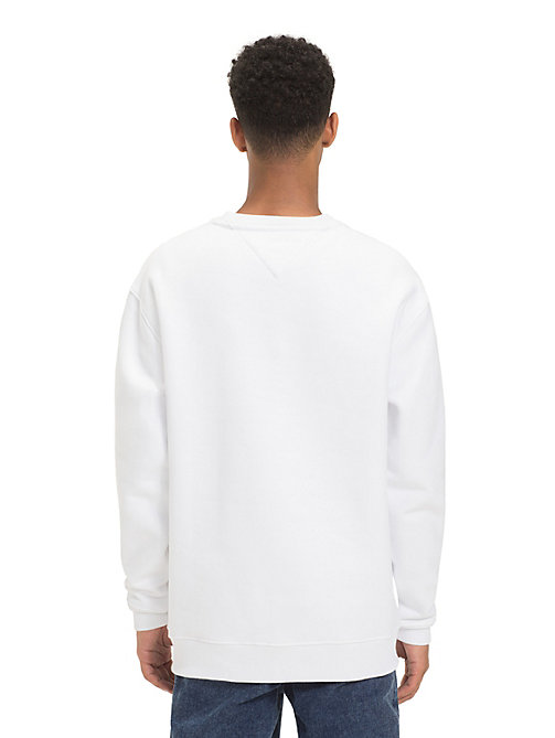 TOMMY JEANS Tommy Classics Logo Sweatshirt - CLASSIC WHITE - TOMMY JEANS Sweatshirts & Hoodies - detail image 1