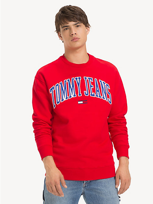 TOMMY JEANS Tommy Classics Logo Sweatshirt - FLAME SCARLET - TOMMY JEANS Sweatshirts & Hoodies - main image