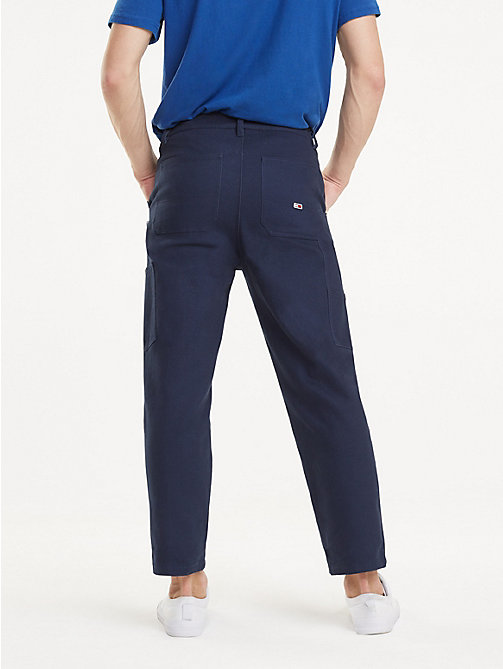 TOMMY JEANS Knee Patch Cotton Trousers - BLACK IRIS - TOMMY JEANS Trousers & Shorts - detail image 1