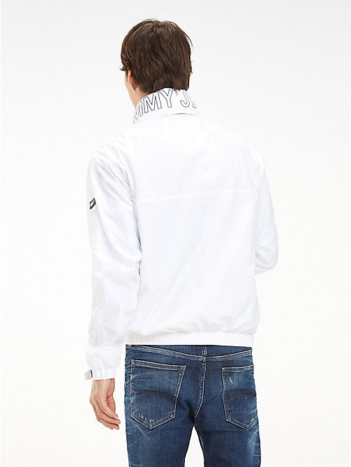 TOMMY JEANS Zipped Neck Popover Jacket - CLASSIC WHITE - TOMMY JEANS Coats & Jackets - detail image 1