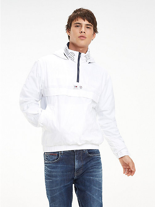 TOMMY JEANS Zipped Neck Popover Jacket - CLASSIC WHITE - TOMMY JEANS Coats & Jackets - main image