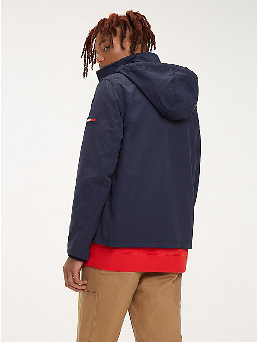 TOMMY JEANS Essential Hooded Jacket - BLACK IRIS - TOMMY JEANS Coats & Jackets - detail image 1