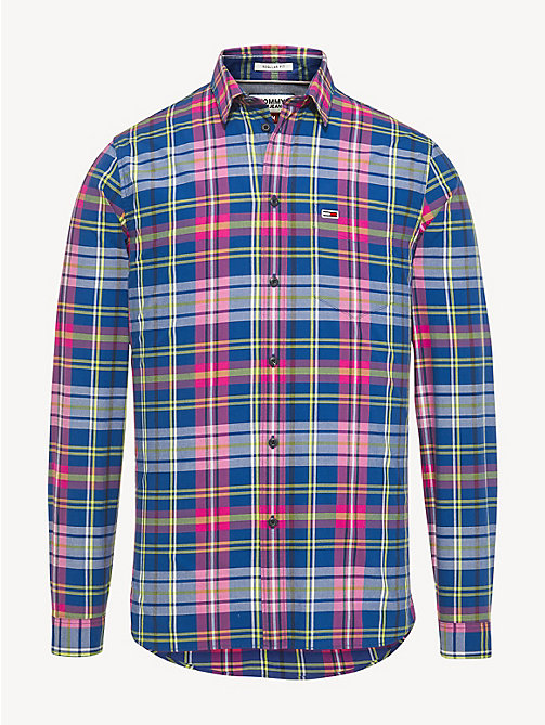 TOMMY JEANS Essential Pure Cotton Check Shirt - LIMOGES / MULTI - TOMMY JEANS Shirts - detail image 1